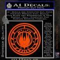 Battlestar Galactica CR6 Decal Sticker BSG Orange Vinyl Emblem 120x120