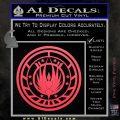 Battlestar Galactica CR6 Decal Sticker BSG Pink Vinyl Emblem 120x120