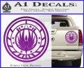 Battlestar Galactica CR6 Decal Sticker BSG Purple Vinyl 120x97