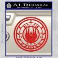 Battlestar Galactica CR6 Decal Sticker BSG Red Vinyl 120x120