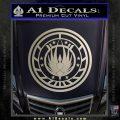 Battlestar Galactica CR6 Decal Sticker BSG Silver Vinyl 120x120