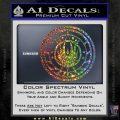 Battlestar Galactica CR6 Decal Sticker BSG Sparkle Glitter Vinyl 120x120