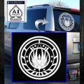Battlestar Galactica CR6 Decal Sticker BSG White Emblem 120x120