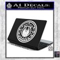Battlestar Galactica CR6 Decal Sticker BSG White Vinyl Laptop 120x120