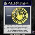Battlestar Galactica CR6 Decal Sticker BSG Yelllow Vinyl 120x120