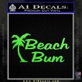 Beach Bun Palm Tree Decal Sticker Lime Green Vinyl 120x120