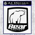 Bear Archery Logo Decal Sticker Badge Black Logo Emblem 120x120