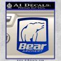 Bear Archery Logo Decal Sticker Badge Blue Vinyl 120x120