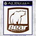 Bear Archery Logo Decal Sticker Badge Brown Vinyl 120x120