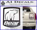 Bear Archery Logo Decal Sticker Badge Carbon Fiber Black 120x97