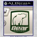 Bear Archery Logo Decal Sticker Badge Dark Green Vinyl 120x120