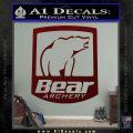 Bear Archery Logo Decal Sticker Badge Dark Red Vinyl 120x120