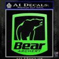 Bear Archery Logo Decal Sticker Badge Lime Green Vinyl 120x120