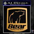 Bear Archery Logo Decal Sticker Badge Metallic Gold Vinyl Vinyl 120x120