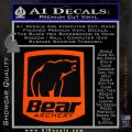 Bear Archery Logo Decal Sticker Badge Orange Vinyl Emblem 120x120