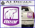 Bear Archery Logo Decal Sticker Badge Purple Vinyl 120x97