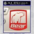 Bear Archery Logo Decal Sticker Badge Red Vinyl 120x120
