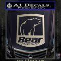 Bear Archery Logo Decal Sticker Badge Silver Vinyl 120x120