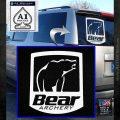 Bear Archery Logo Decal Sticker Badge White Emblem 120x120