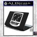 Bear Archery Logo Decal Sticker Badge White Vinyl Laptop 120x120