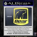 Bear Archery Logo Decal Sticker Badge Yelllow Vinyl 120x120