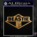 Beastie Boys D2 Decal Sticker Metallic Gold Vinyl Vinyl 120x120