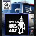 Bender Bite My Metal Ass Decal Sticker DZA White Emblem 120x120