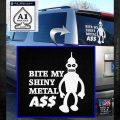 Bender Bite My Metal Ass Decal Sticker DZA White Emblem 120x120