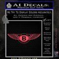 Bentley auto Logo RDZ Decal Sticker Pink Vinyl Emblem 120x120