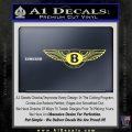 Bentley auto Logo RDZ Decal Sticker Yelllow Vinyl 120x120