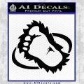 Bigfoot OV1 Decal Sticker Black Logo Emblem 120x120