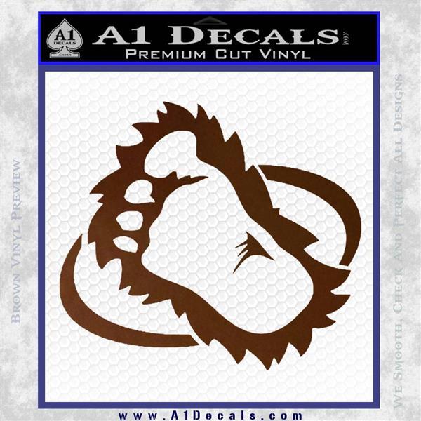 Bigfoot OV1 Decal Sticker Brown Vinyl