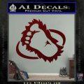 Bigfoot OV1 Decal Sticker Dark Red Vinyl 120x120