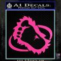 Bigfoot OV1 Decal Sticker Hot Pink Vinyl 120x120
