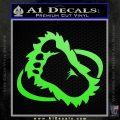 Bigfoot OV1 Decal Sticker Lime Green Vinyl 120x120