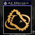 Bigfoot OV1 Decal Sticker Metallic Gold Vinyl 120x120