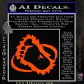 Bigfoot OV1 Decal Sticker Orange Vinyl Emblem 120x120