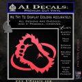 Bigfoot OV1 Decal Sticker Pink Vinyl Emblem 120x120