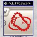 Bigfoot OV1 Decal Sticker Red Vinyl 120x120
