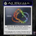 Bigfoot OV1 Decal Sticker Sparkle Glitter Vinyl 120x120