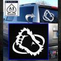 Bigfoot OV1 Decal Sticker White Emblem 120x120
