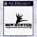 Bow Hunter Archer Decal Sticker Stacked Black Logo Emblem 120x120