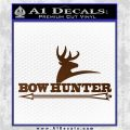 Bow Hunter Archer Decal Sticker Stacked Brown Vinyl 120x120