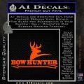 Bow Hunter Archer Decal Sticker Stacked Orange Vinyl Emblem 120x120