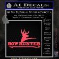 Bow Hunter Archer Decal Sticker Stacked Pink Vinyl Emblem 120x120