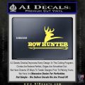Bow Hunter Archer Decal Sticker Stacked Yelllow Vinyl 120x120
