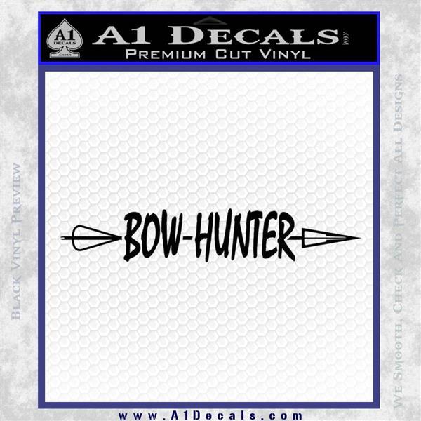Bow Hunter Decal Sticker DW2 Black Logo Emblem