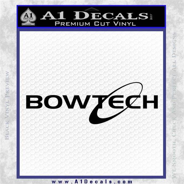 Bowtech Archer Decal Sticker Logo Black Logo Emblem