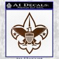 Boy Scouts Logo Decal Sticker Brown Vinyl 120x120