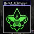 Boy Scouts Logo Decal Sticker Lime Green Vinyl 120x120